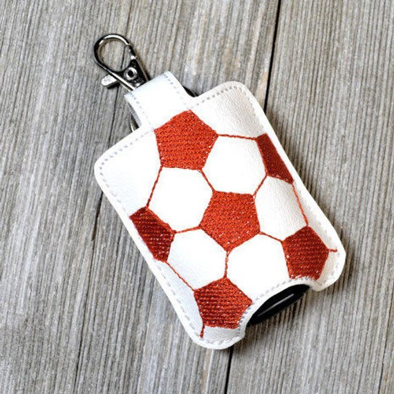 Custom Soccer Bag Tag Hand Sanitizer Holder Sanitizer Key Fob