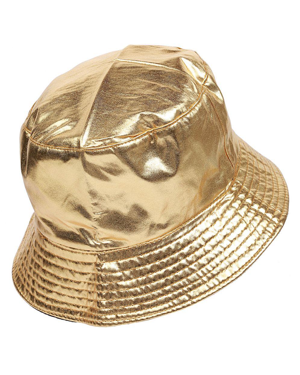 2059001aa80 Gold foil bucket hat