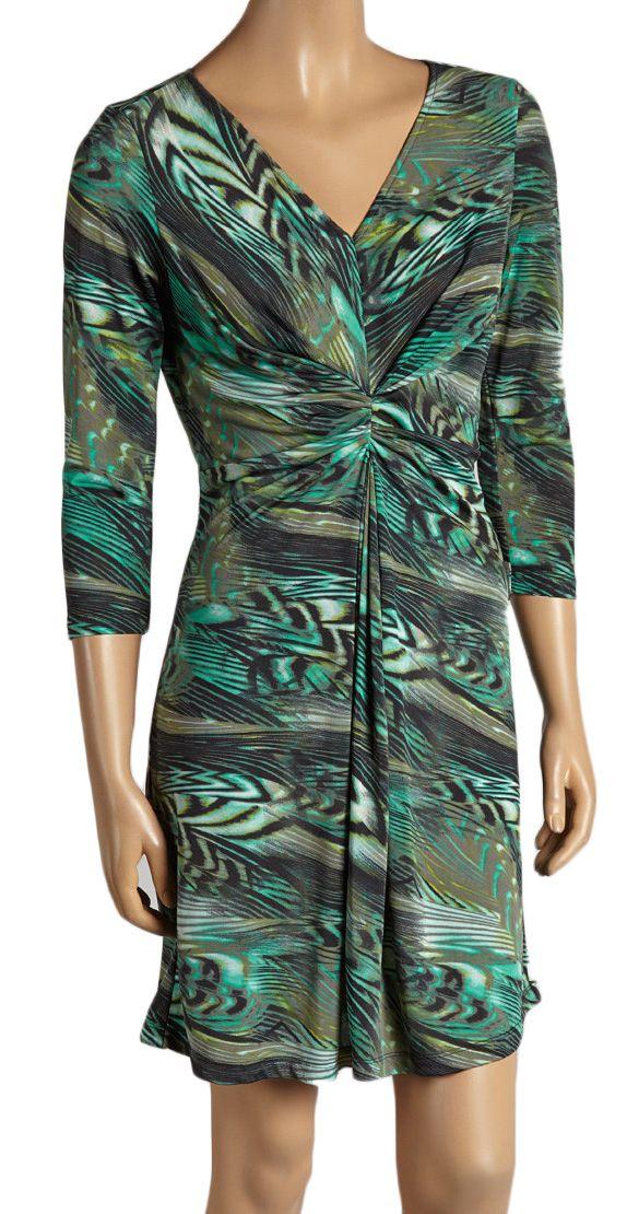 LV408 -  Abstract Sun Dress - Green