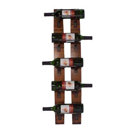 Amazon.com - 2 Day Designs Reclaimed 5-Bottle Wall Mounted Wine Rack -