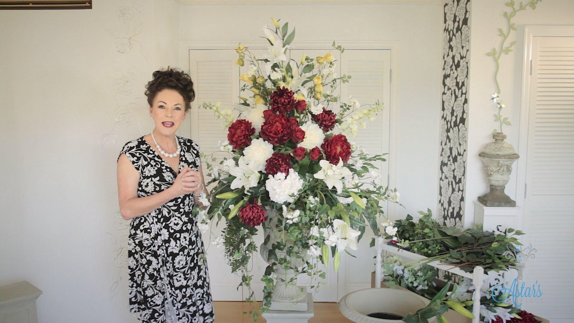 Formal church arrangement floristry tutorial floral