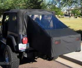 Crewbed Soft Top For Tj Jeep Tent Jeep Camping Jeep Wrangler Accessories