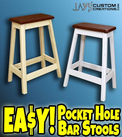 FREE and EASY plans! Learn how to build your own bar stools!  sc 1 st  Pinterest & FREE and EASY plans! Learn how to build your own bar stools! | Man ... islam-shia.org