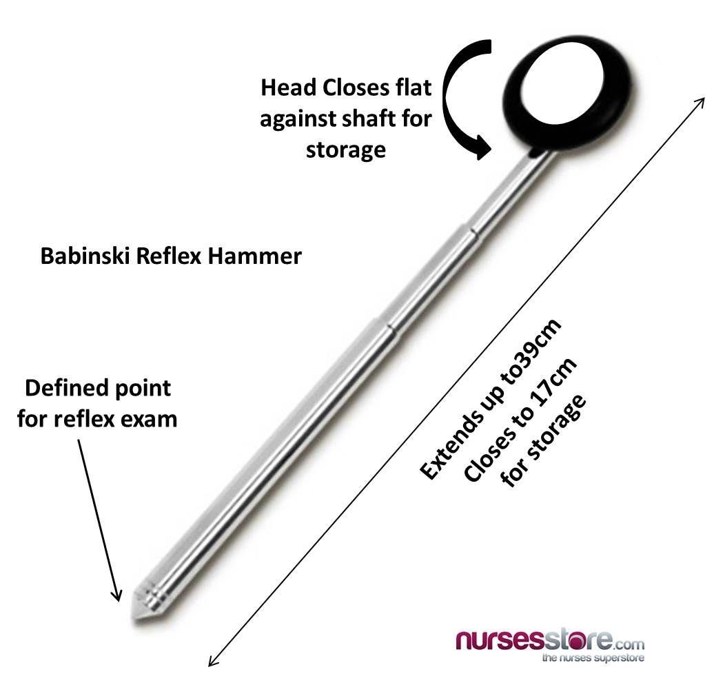The Benefits of a Babinski Telescoping Reflex Hammer - Nurses Store ...