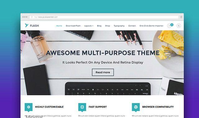 FLASH - Best Free Multipurpose WordPress Theme | Premium Wordpress