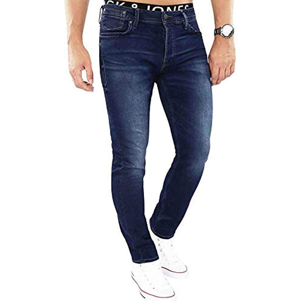 JACK JONES Herren Slim Fit Jeans Denim Used Look #Bekleidung