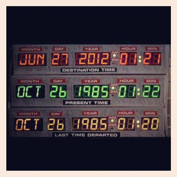 """#ADayLikeToday Marty McFly travel to the """"Future"""" I mean, today June 27th 2012"""