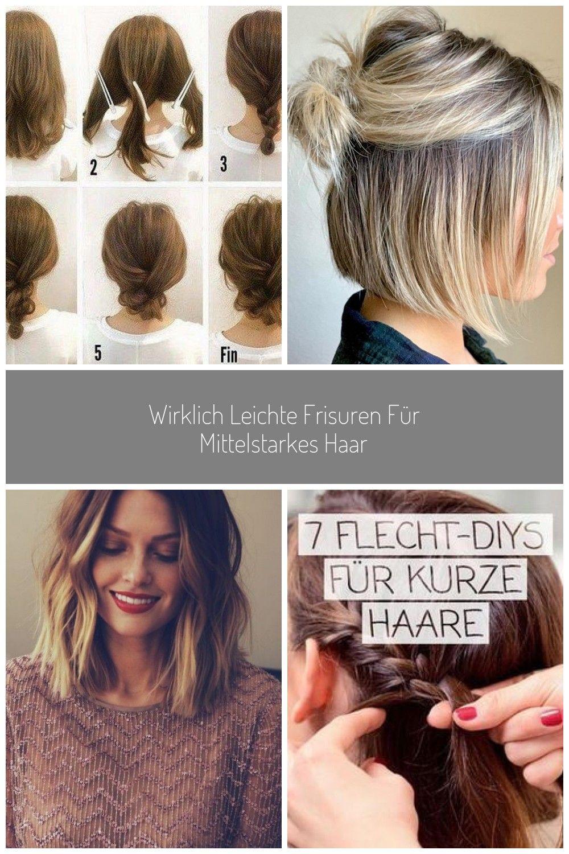 Wirklich leichte Frisuren für mittelstarkes Haar #hochzeit