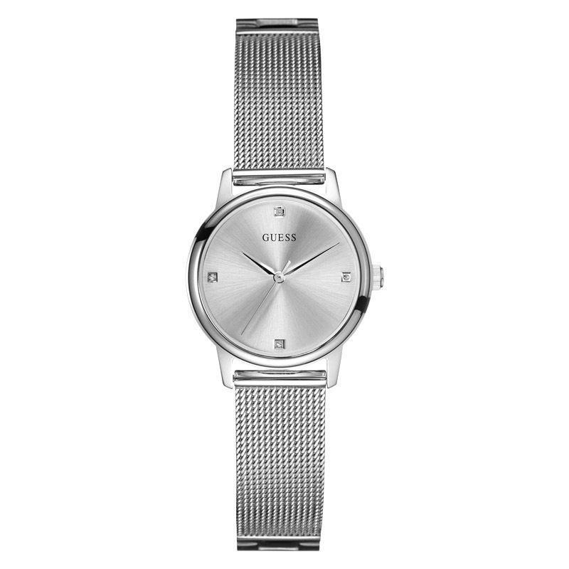 Guess Watch For Women * Silver Tone Mesh Stainless Steel Bracelet * U0532L1