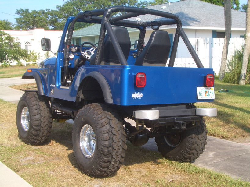 Cj5 Big Blue With Images Jeep Willys Jeep Blue Jeep