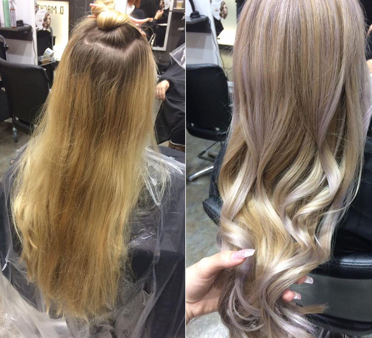 Frisuren Vorher Nachher Kreative Haarfarben Pastell Haare