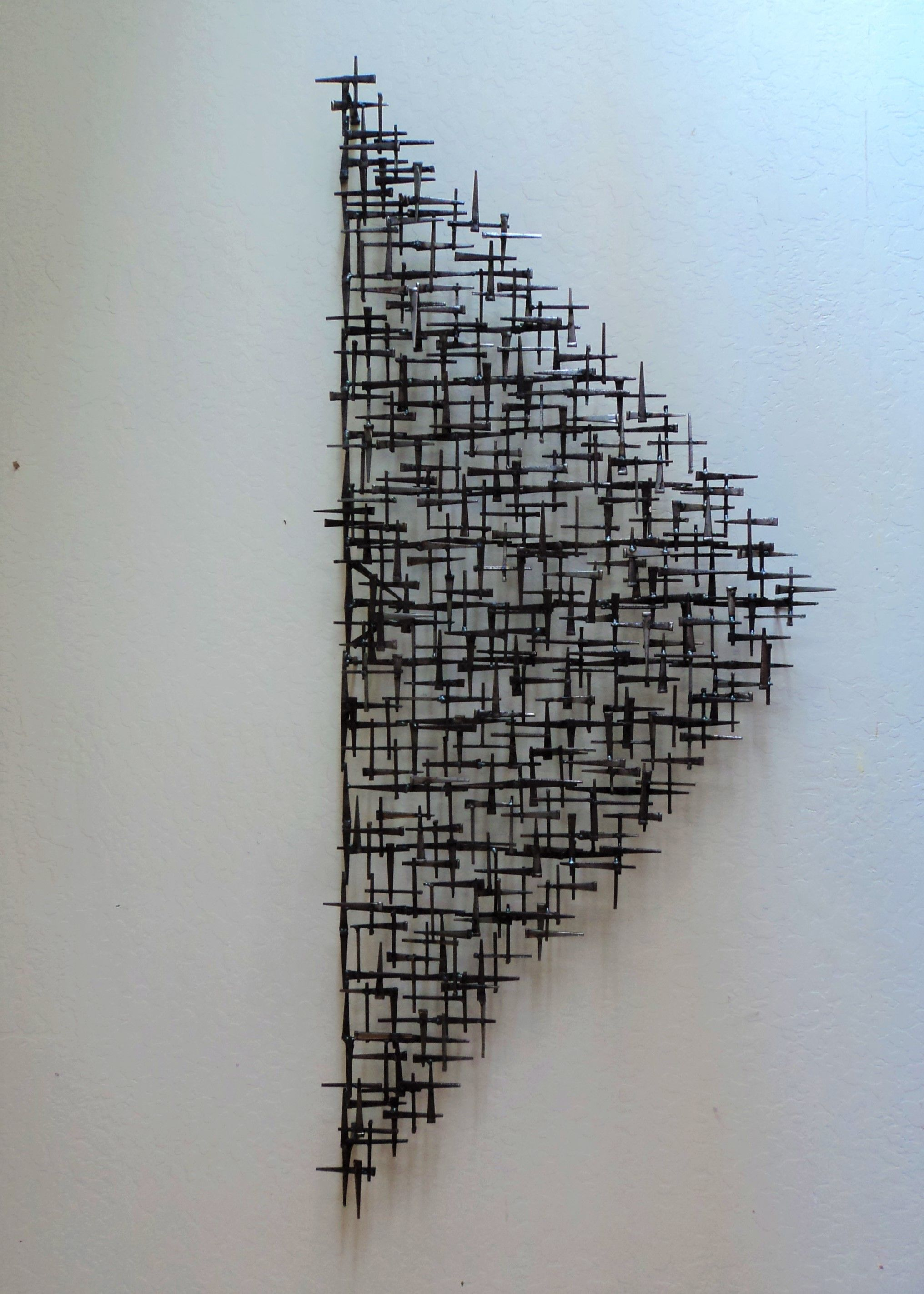 Contemporary Modern Abstract Nail Sculpture Created By Artist Corey Ellis Mid Century Ultra Modern Abstract Co Sculpture Geometric Sculpture Abstract Sculpture