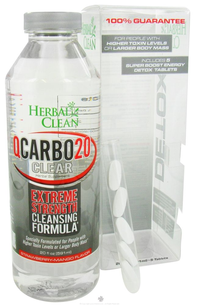 Herbal Clean QCarbo20 Clear Extreme Strength Cleansing
