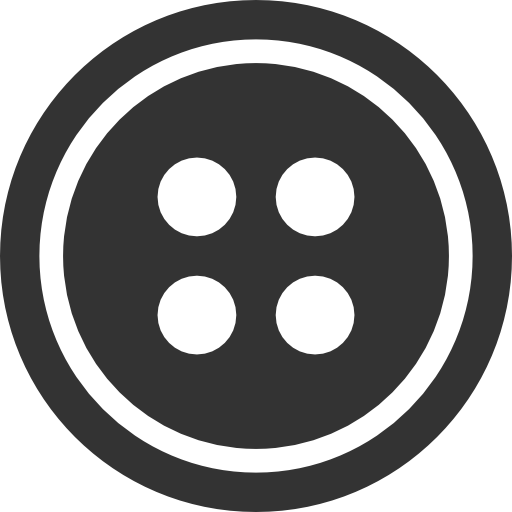 Black Sewing Button With 4 Hole Png Image Sewing A Button Black Buttons
