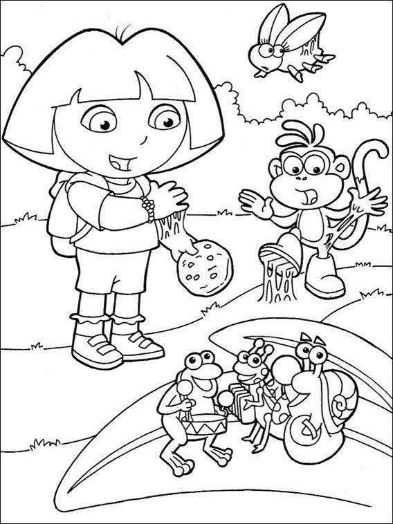 Dora The Explorer Coloring Pages 153