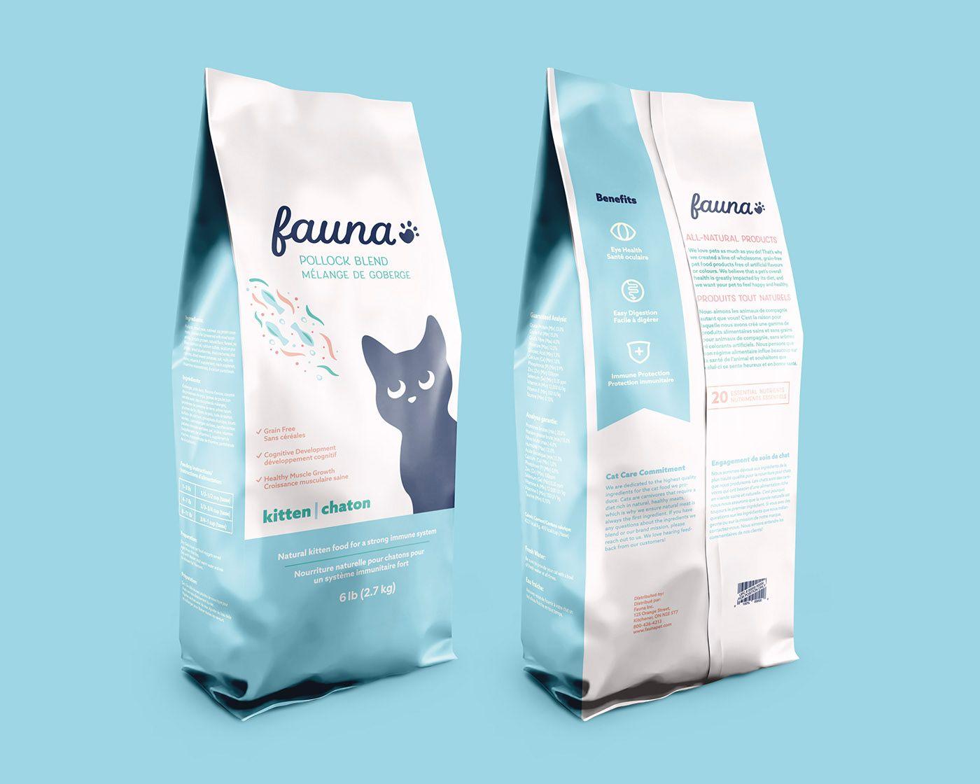 Cat Food Packaging On Behance Pet Food Packaging Food Packaging Design Cat Food