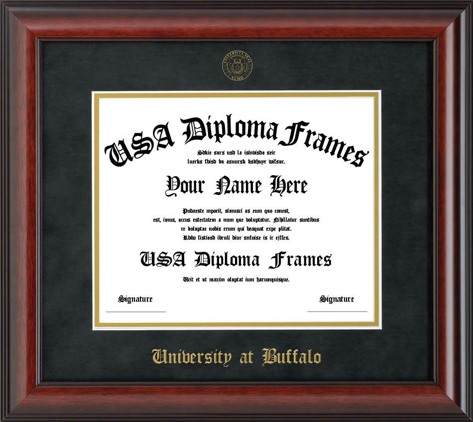 high quality solid wood custom diploma frames and designs for university at buffalo - Diploma Frames Walmart