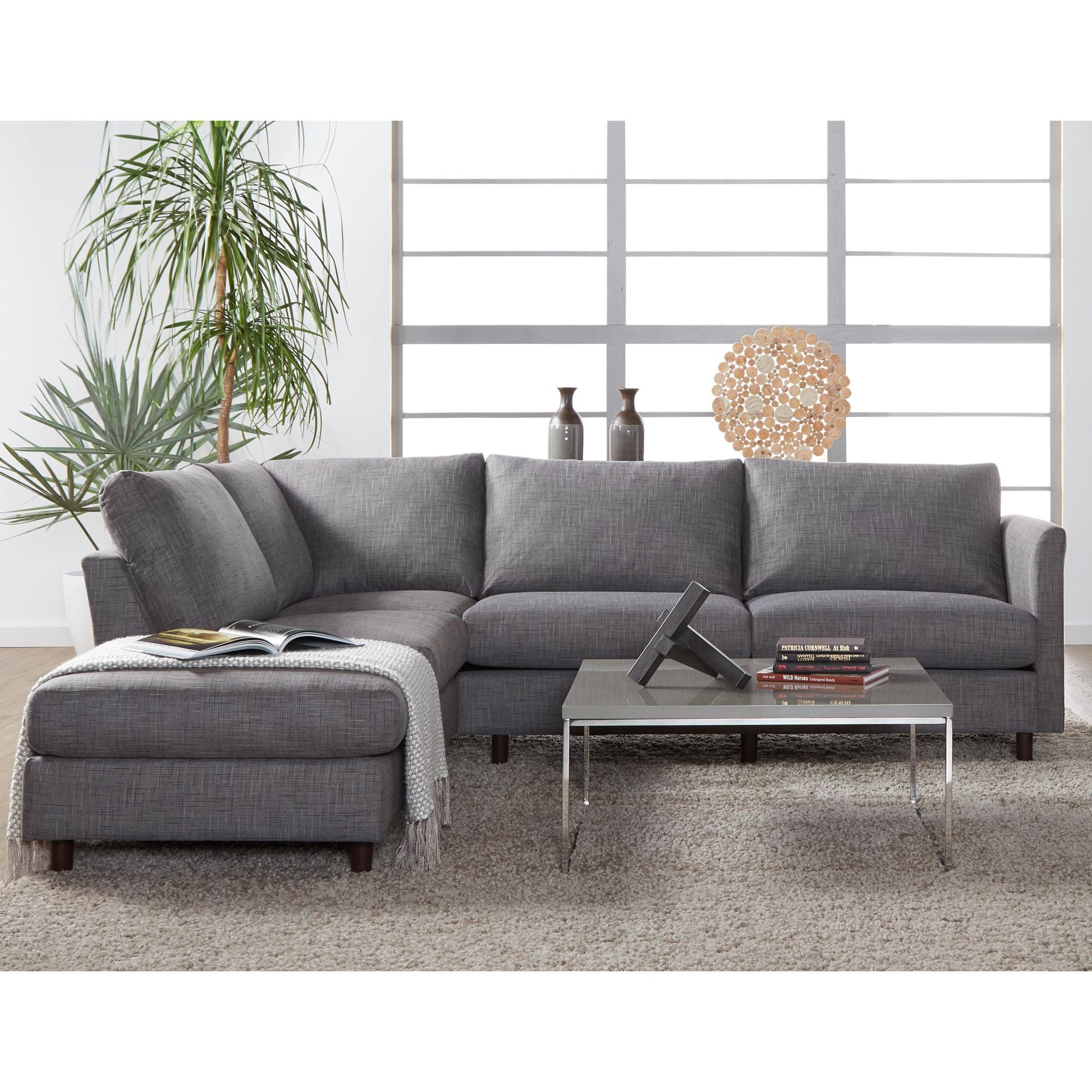Hughes Furniture Hathaway 2 Piece Sectional In Briar Nebraska Furniture Mart Discount Living Room Furniture Furniture Sectional Sofa Couch