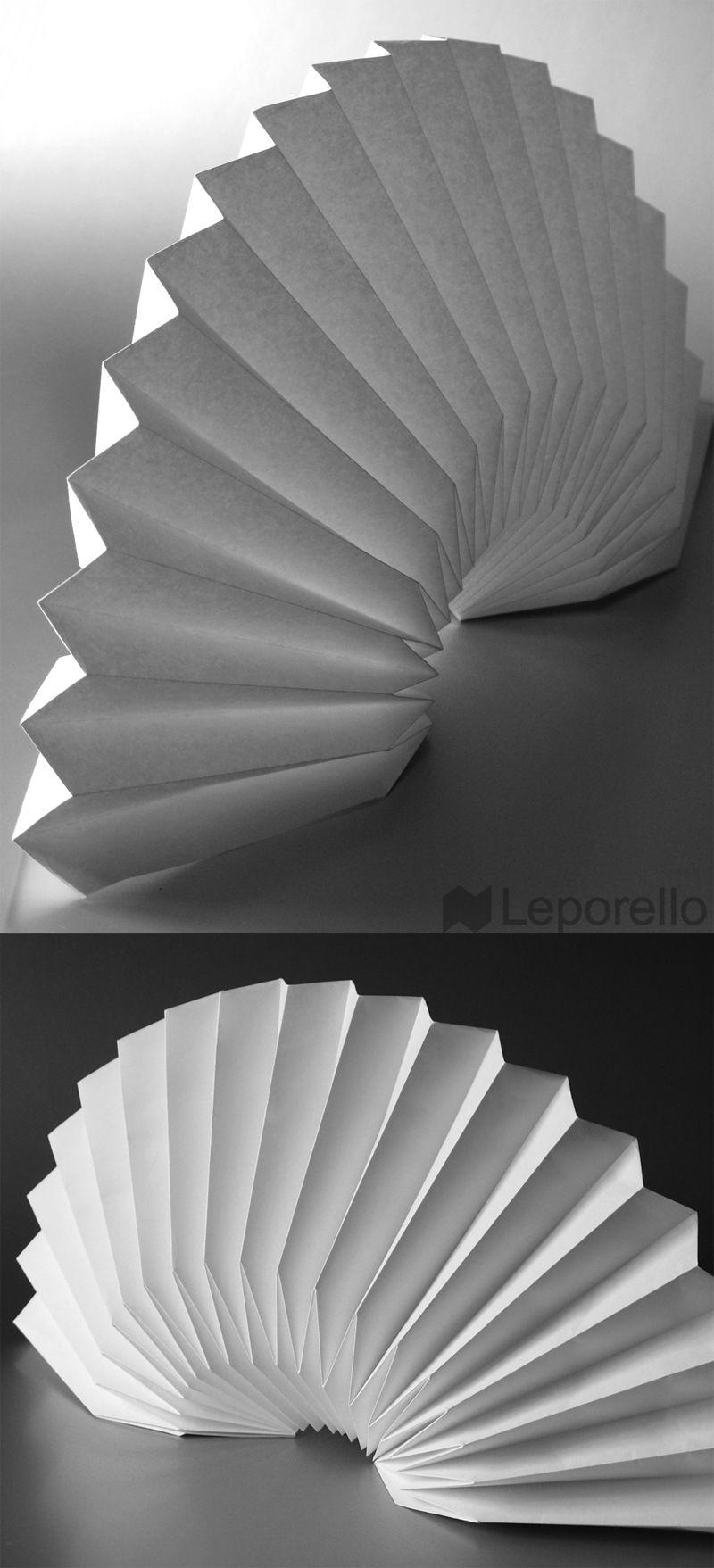 Origami fan origami origami papier e origami papier for Imitazioni lampade design
