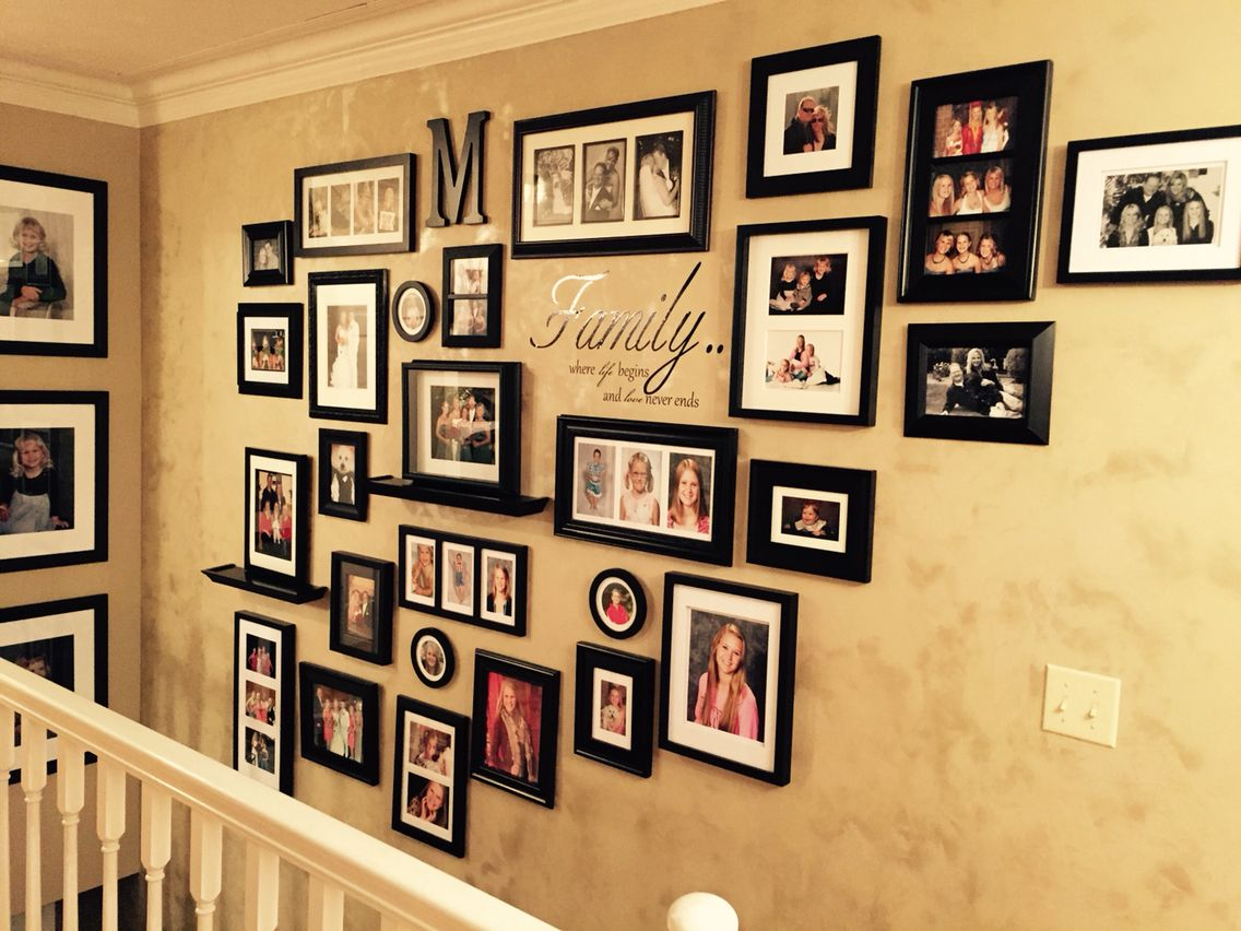 This is my new photo wall. I love it!!