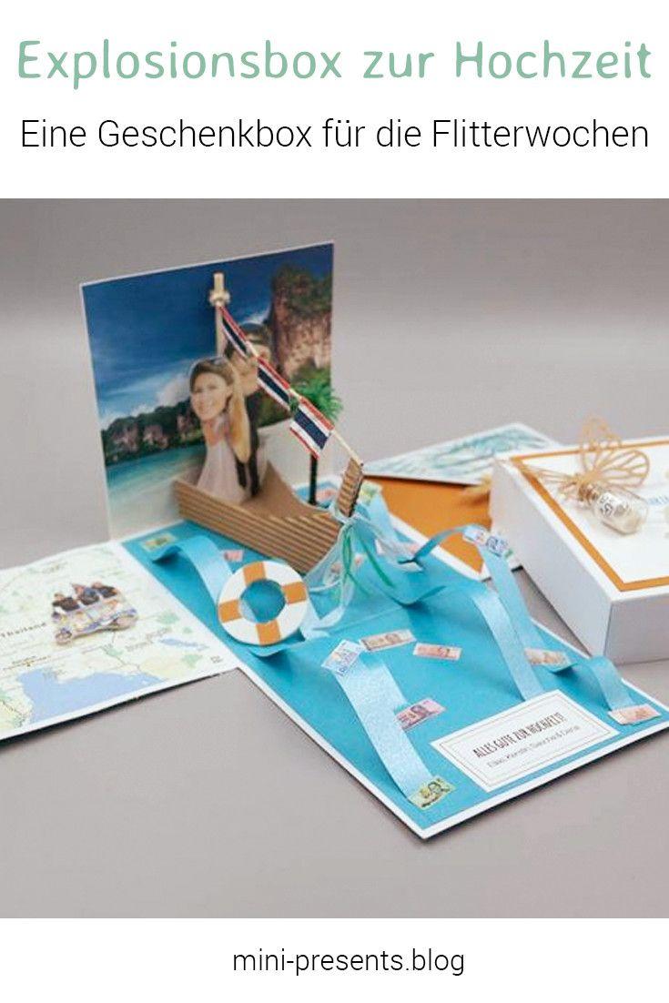 explosionsbox flitterwochen diy wedding gifts diy hochzeitsgeschenke pinterest geschenke. Black Bedroom Furniture Sets. Home Design Ideas
