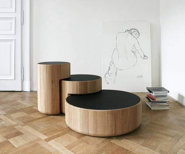 LEVELS Three Overlapping Low Coffee Tables