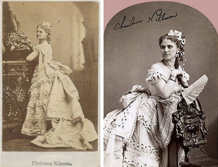 The fictional ingénue of our novel might be named Christine Daaé, but she certainly resembles a real-life soprano Christine Nilsson, who was famous for her performances in the operas Hamlet and Faust.