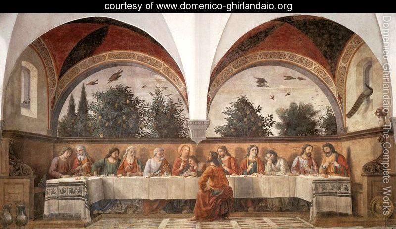 Last Supper 1480 - Domenico Ghirlandaio - www.domenico-ghirlandaio.org