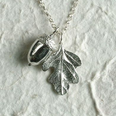 Acorn and oak leaf necklace image 1 acorns pinterest oak acorn and oak leaf necklace image 1 aloadofball Choice Image