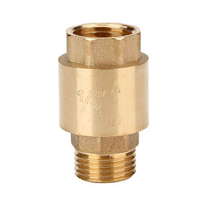 Golden Water Oil Spring 1 2 Thread Bspp Female Male In Line Non Return Valve Valve Oils Plumbing Valves