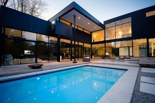 poucas cores muitos materiais design residential 1