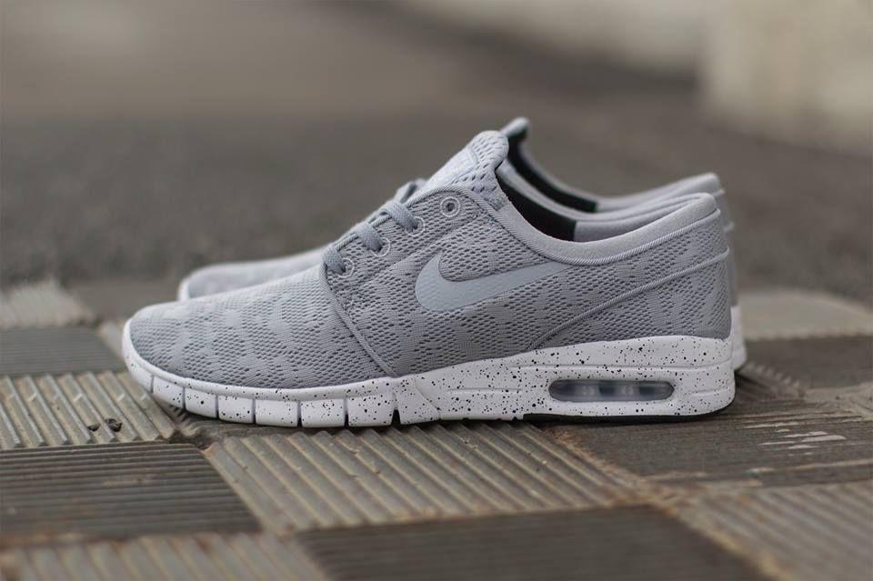 19d3e45908 Nike SB Stefan Janoski Max: Wolf Grey/White | Shoes | Best nike ...