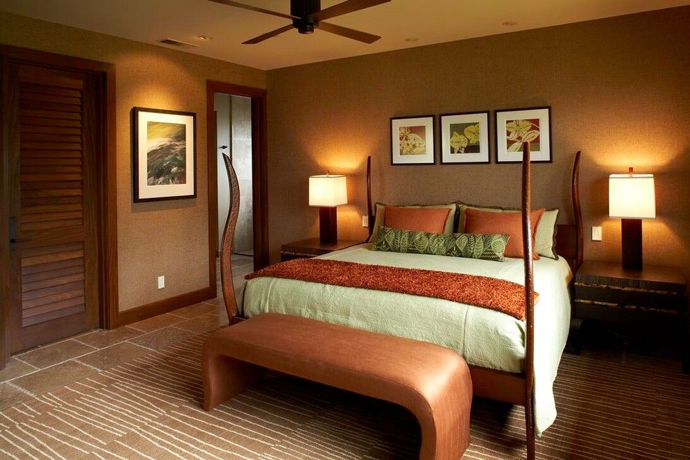Surprising Earth Tone Colors decorating ideas for Bedroom Tropical ...