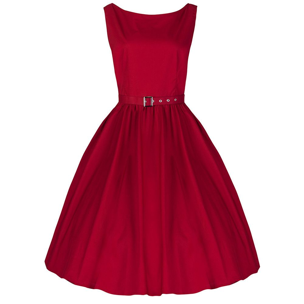 Red cotton audrey swing dress kitty cotton and audrey hepburn style pretty kitty red cotton audrey dress pretty kitty fashion ombrellifo Image collections