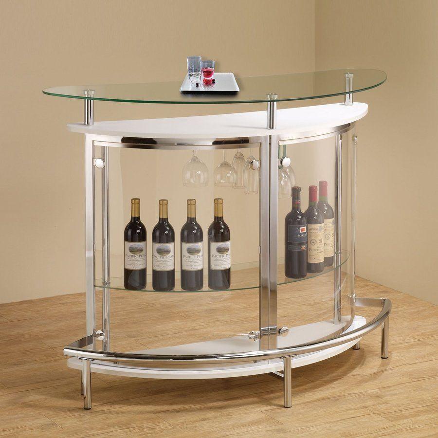 Coaster Fine Furniture 50.75 In X 41 In Metal Half Moon Bar