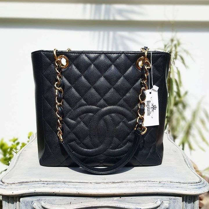 Chanel Black Caviar Petite Shopping Tote Ghw Condition Excellent Price Aed 4 490 We Deliver Worldwide Bagatelleboutique Chanel Reissue Bags Chanel Bag