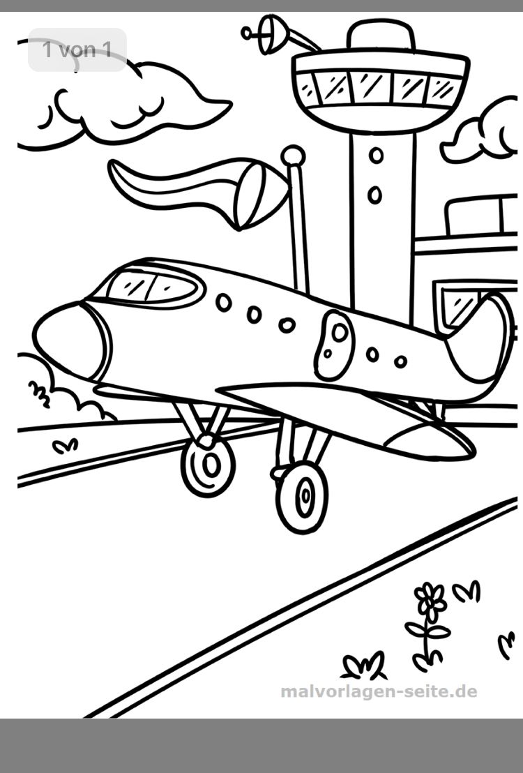 Flugzeug Malvorlage Ausmalbilder Fur Kinder 13