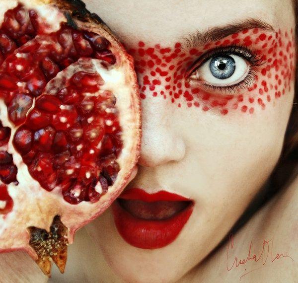 granada. - fom my tutti frutti series.  self-portrait