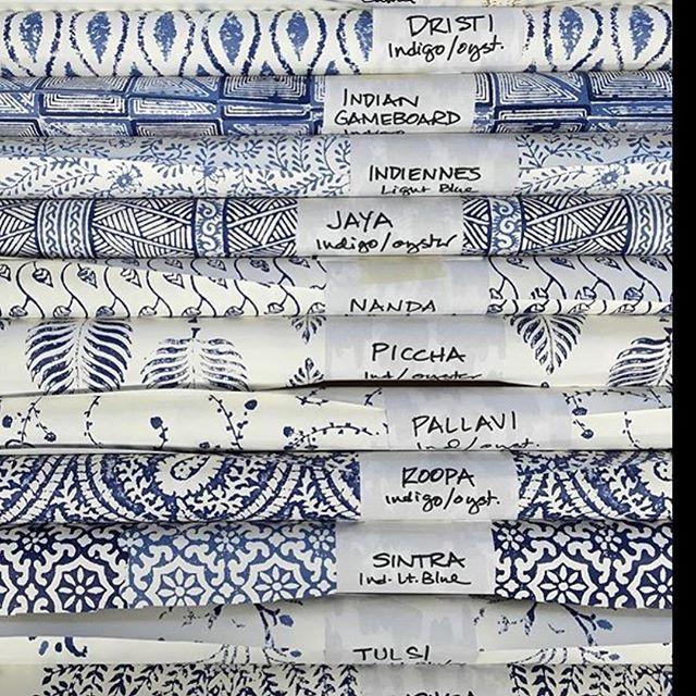 @peterfasano block print #wallpaper #wallcovering #interiordesign #discoveradac2015 #discoveradac2016 #travisandcompany #blueandwhite