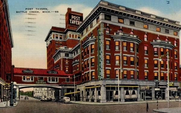 Historical Photo Of The Post Tavern Which Used To Exist In Downtown Battle Creek Michigan