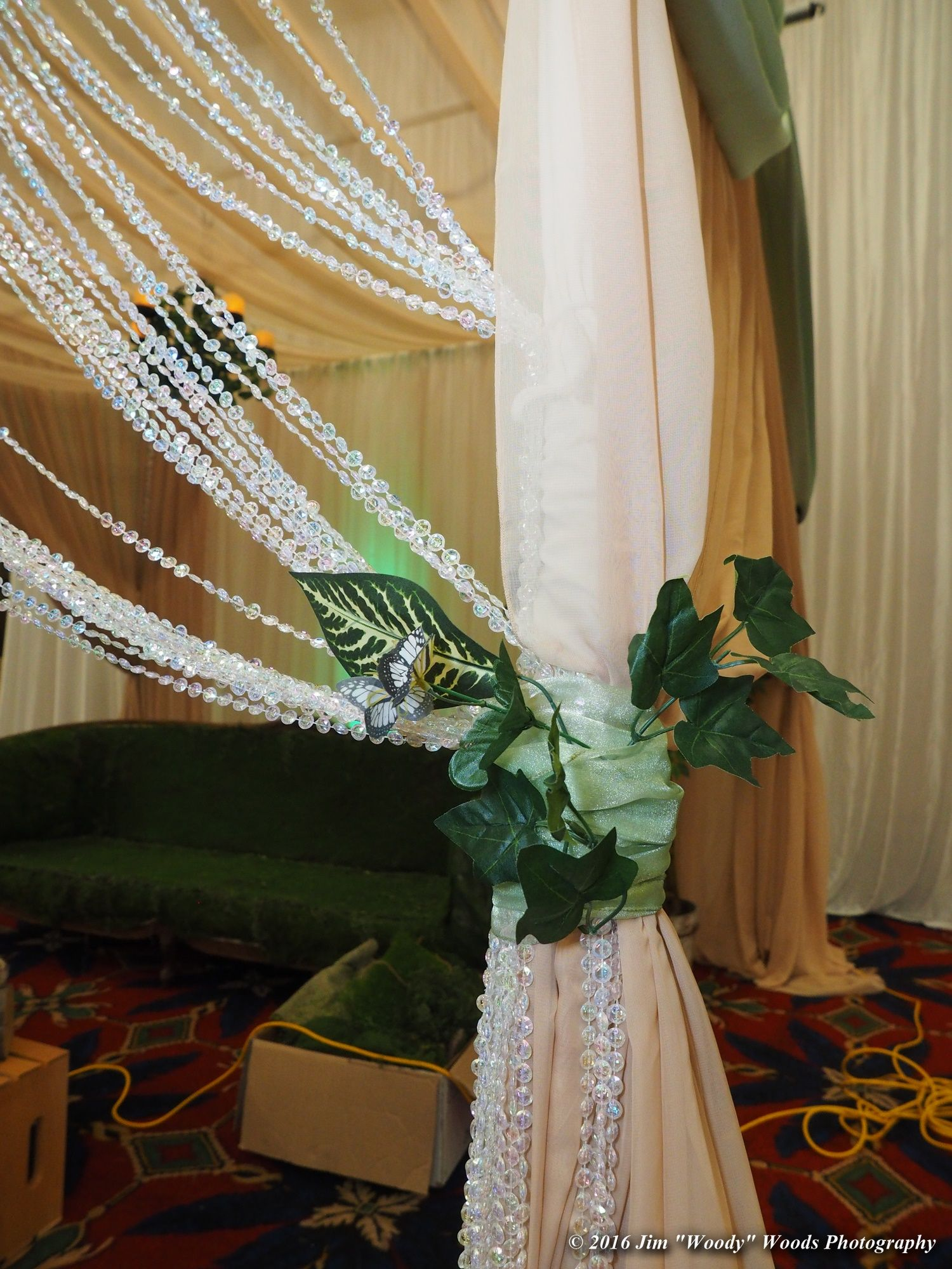 Window decor and more orange beach  enchanted green tiebacks with crystal curtains pipeanddrapeoc