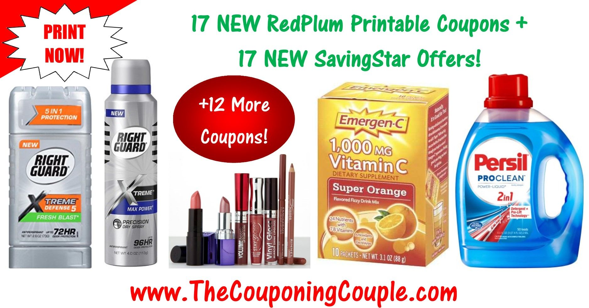 10 New Redplum Printable Coupons 20 New Savingstar