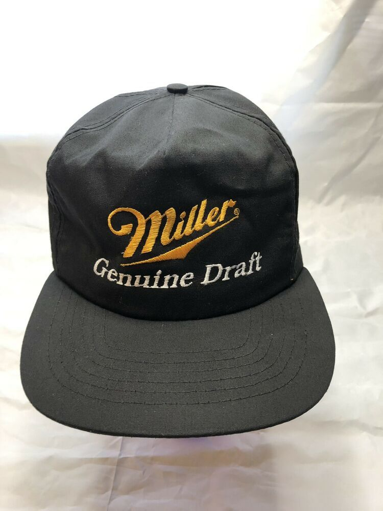 It's Miller Time Lite Beer Trucker Hat Genuine Draft Vintage Snapback Party Cap