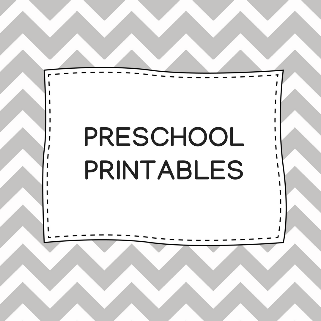 Preschool Printables The Teaching Aunt