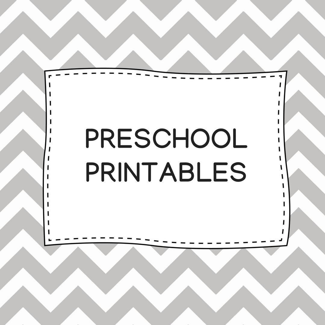 Preschool Printables The Teaching Aunt