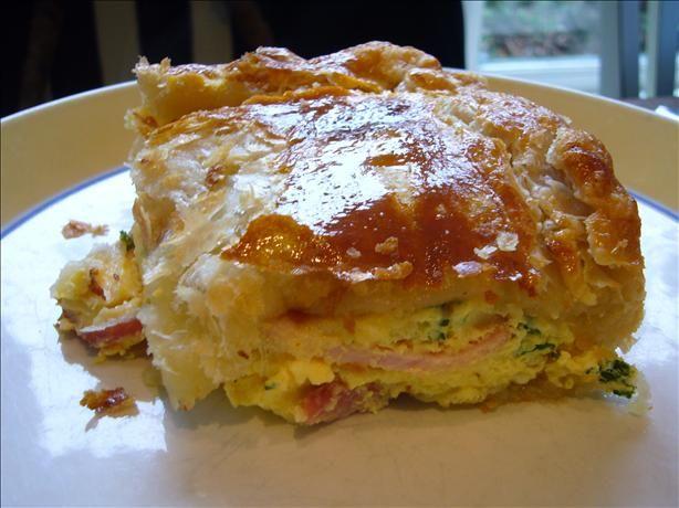Famous New Zealand Bacon Egg Pie Recipe Food Com Recipe Recipes Egg And Bacon Pie Food