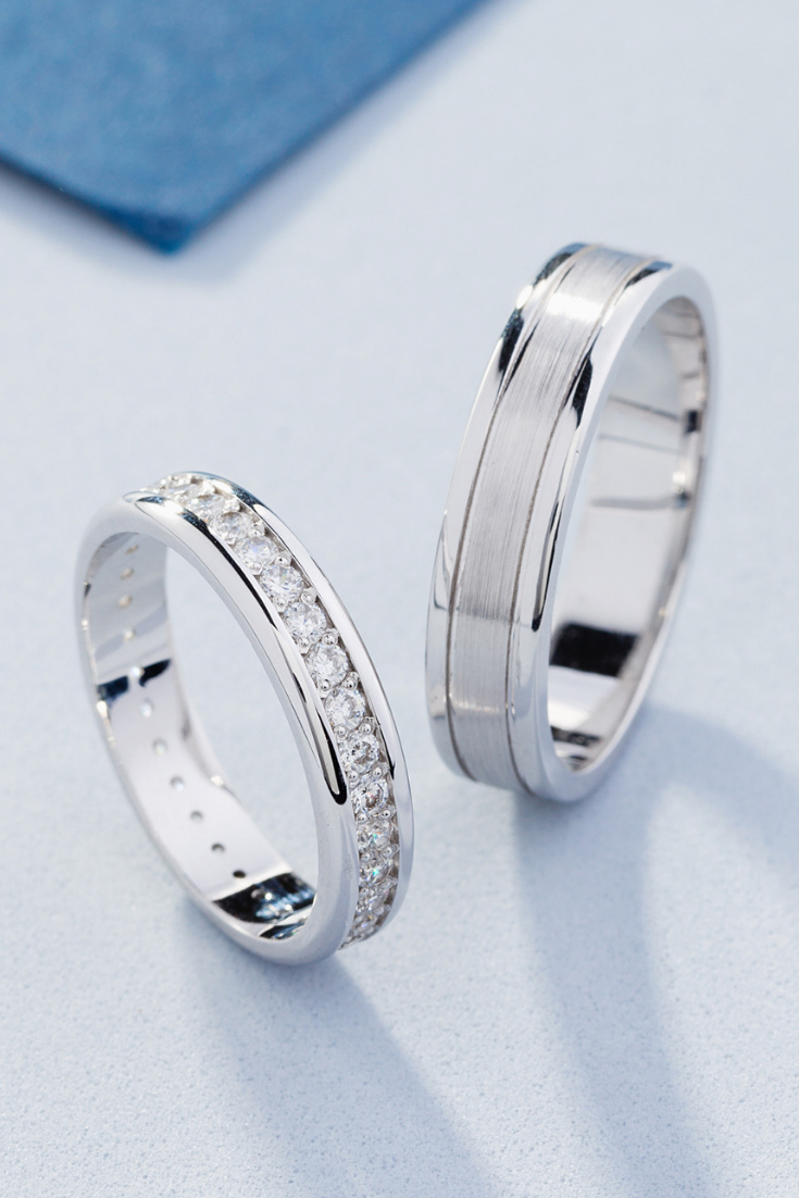 It is just a photo of Elegant wedding bands with diamonds. Matching wedding bands