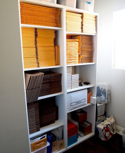 30 Easy Ways Of Your Home Organization: Organizing Your Shipping Supplies Makes Shipping Your
