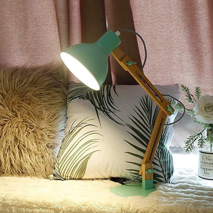 Amazon Com Tomons Swing Arm Led Desk Lamp Wood Designer Table Lamp Reading Lights For Livi In 2020 Schreibtischlampe Schreibtischlampe Led Lampentisch