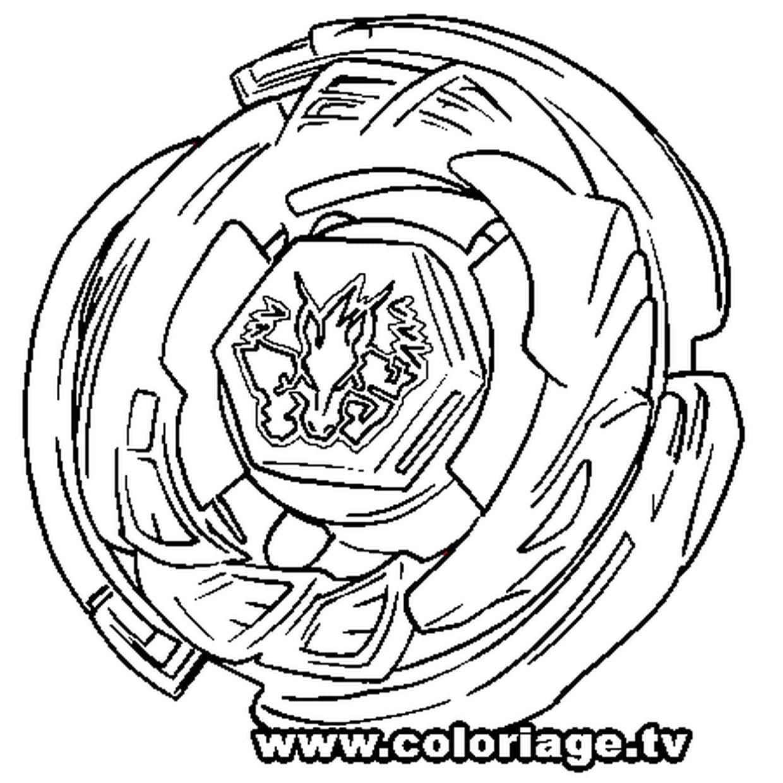 Coloriage Toupie Beyblade di 2020